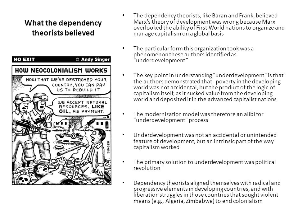 What the dependency theorists believed