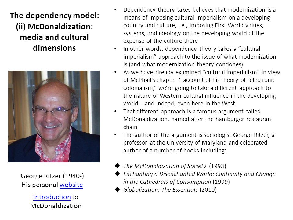 an introduction to the issue of mcdonaldization of society Introduction to sociology - saylor academy.