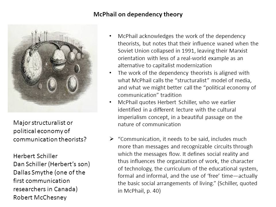 McPhail on dependency theory