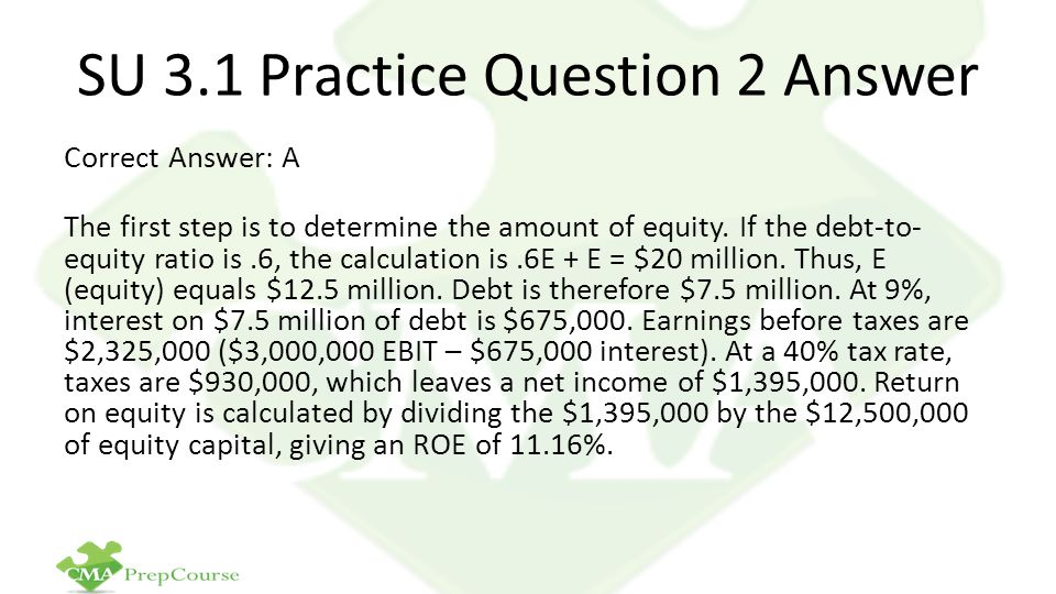 SU 3.1 Practice Question 2 Answer