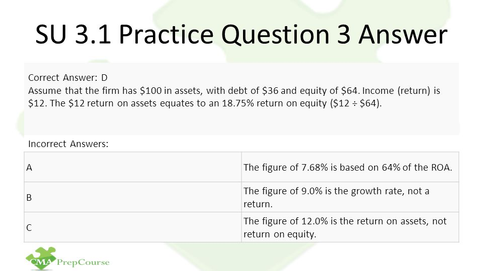 SU 3.1 Practice Question 3 Answer