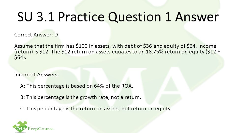 SU 3.1 Practice Question 1 Answer
