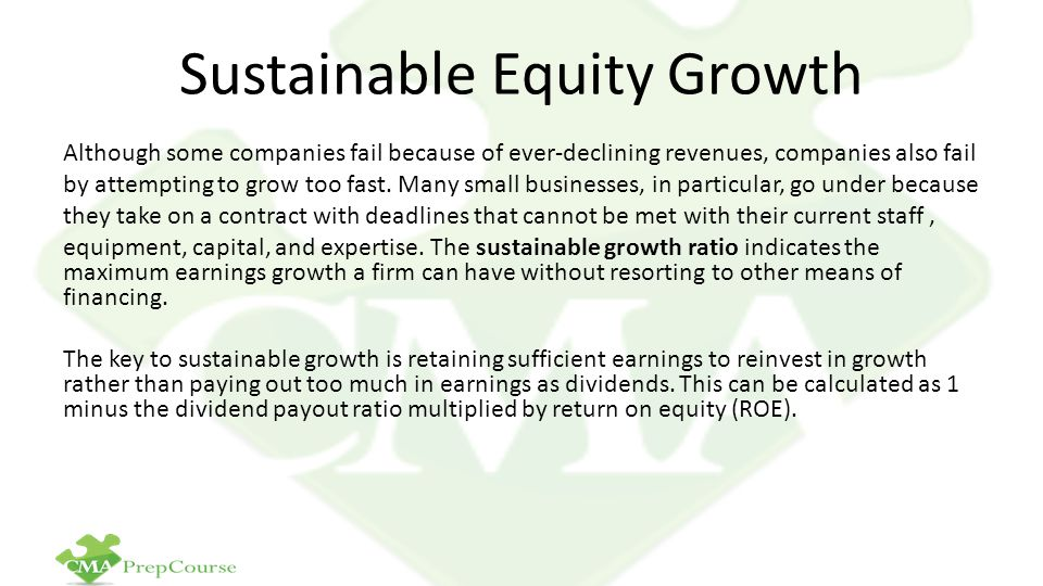 Sustainable Equity Growth