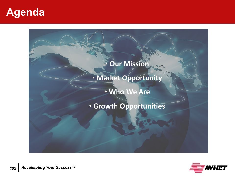 Agenda Our Mission Market Opportunity Who We Are Growth Opportunities