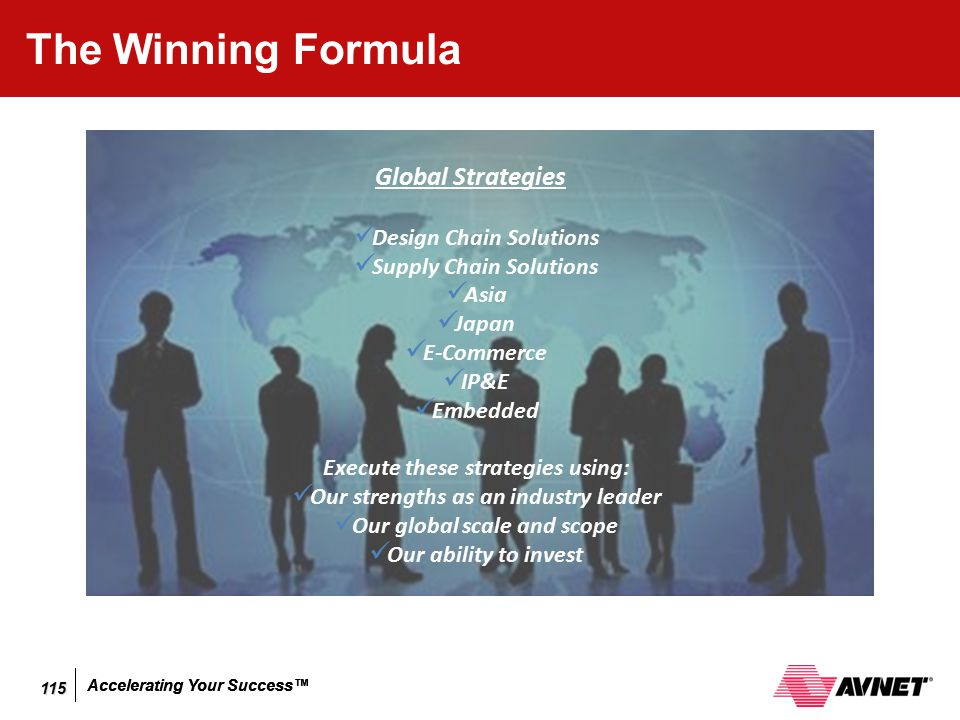 The Winning Formula Global Strategies Design Chain Solutions