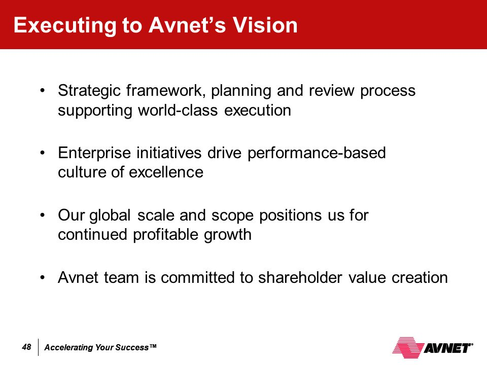 Executing to Avnet's Vision