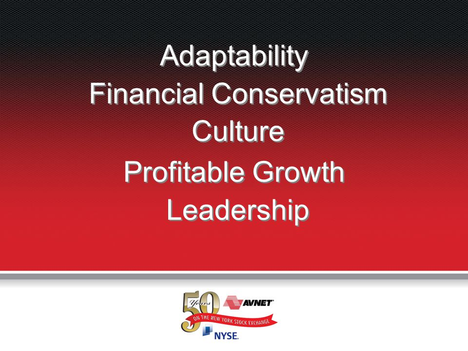 Adaptability Financial Conservatism Culture