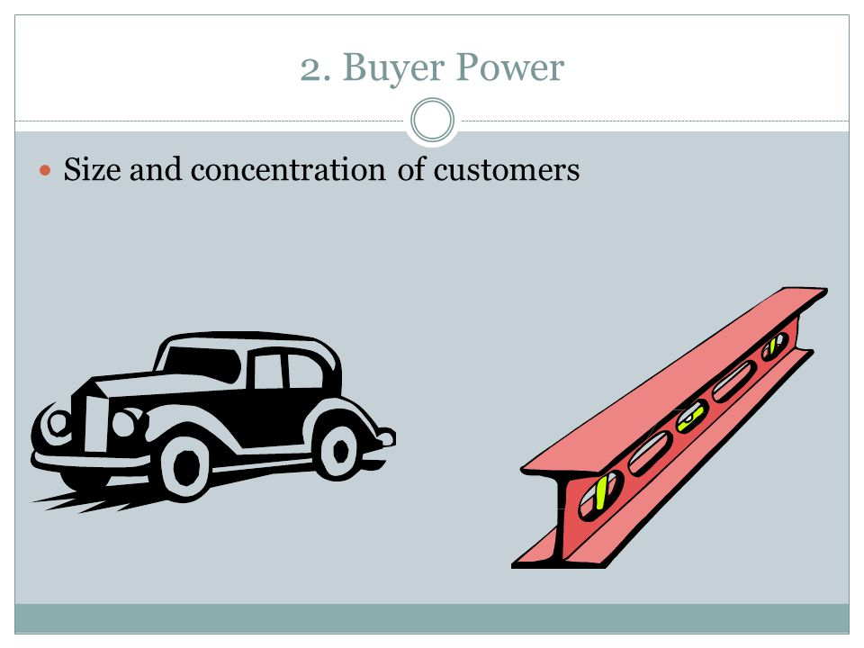 2. Buyer Power Size and concentration of customers