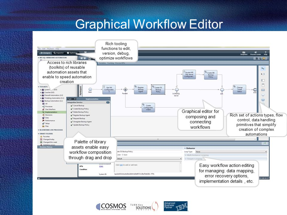 Graphical Workflow Editor