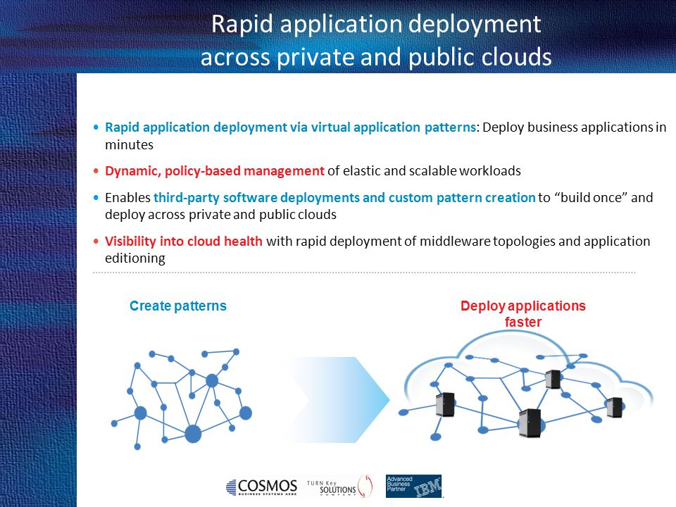 Rapid application deployment across private and public clouds