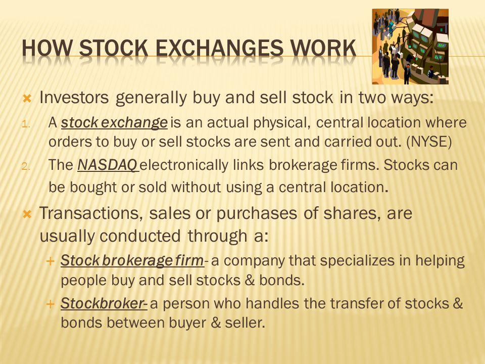 How stock exchanges work
