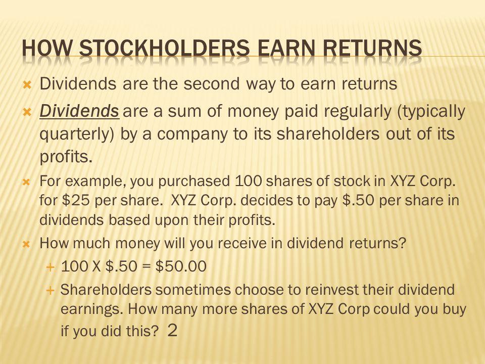 How Stockholders Earn Returns