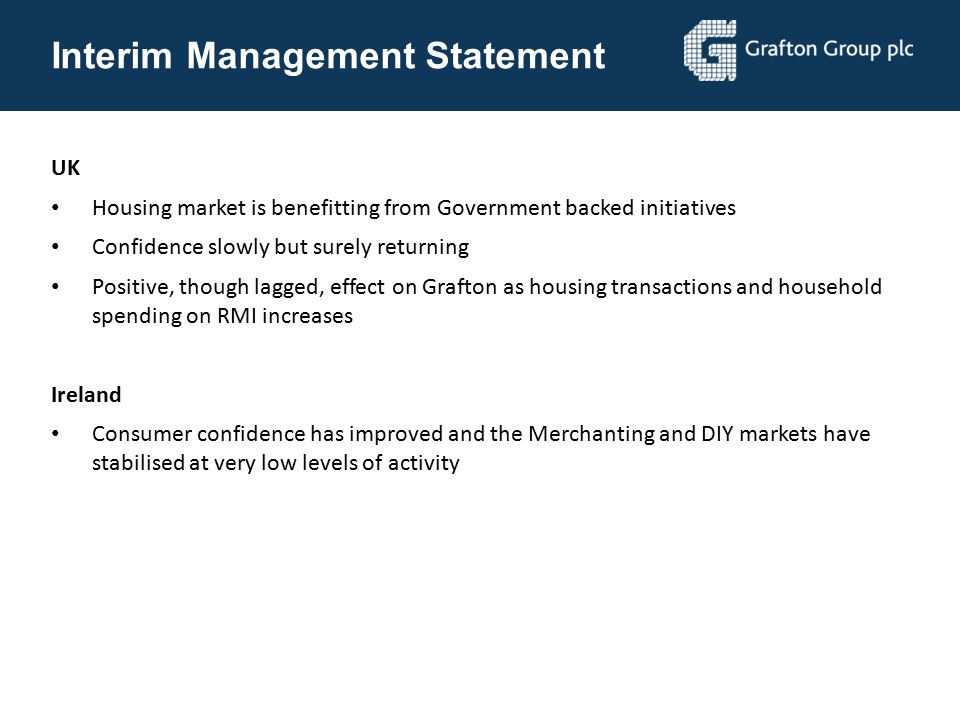 Interim Management Statement