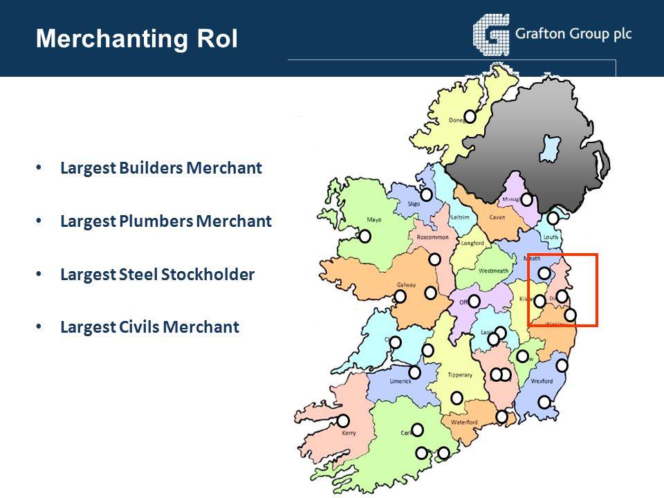 Merchanting RoI Largest Builders Merchant Largest Plumbers Merchant