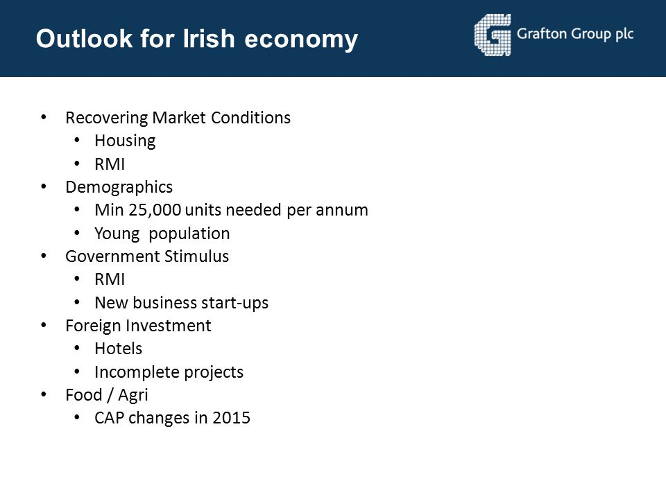 Outlook for Irish economy