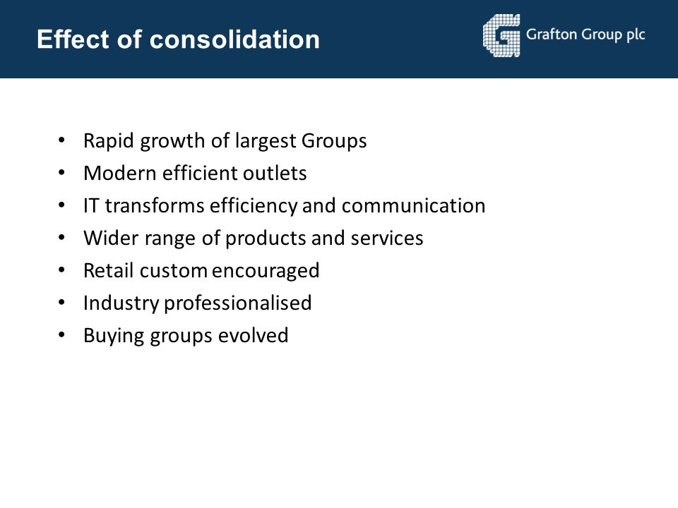 Effect of consolidation