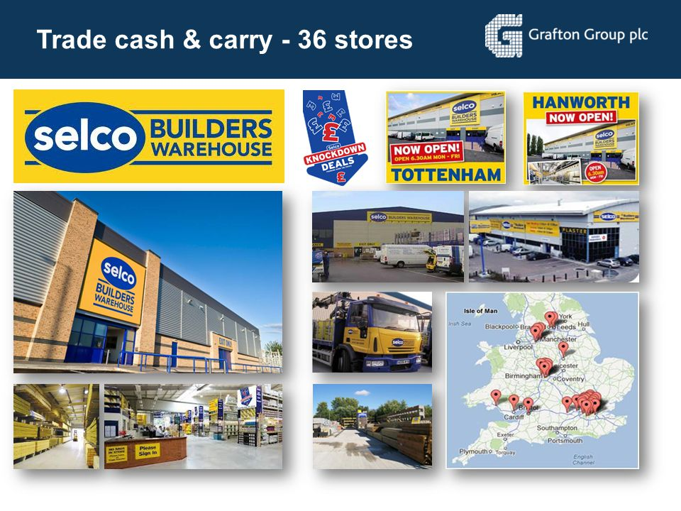 Trade cash & carry - 36 stores