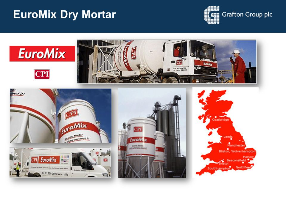 EuroMix Dry Mortar UK's leading Dry Mortar manufacturer and distributor