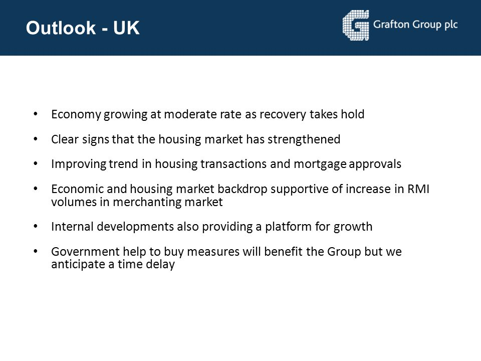 Outlook - UK Economy growing at moderate rate as recovery takes hold