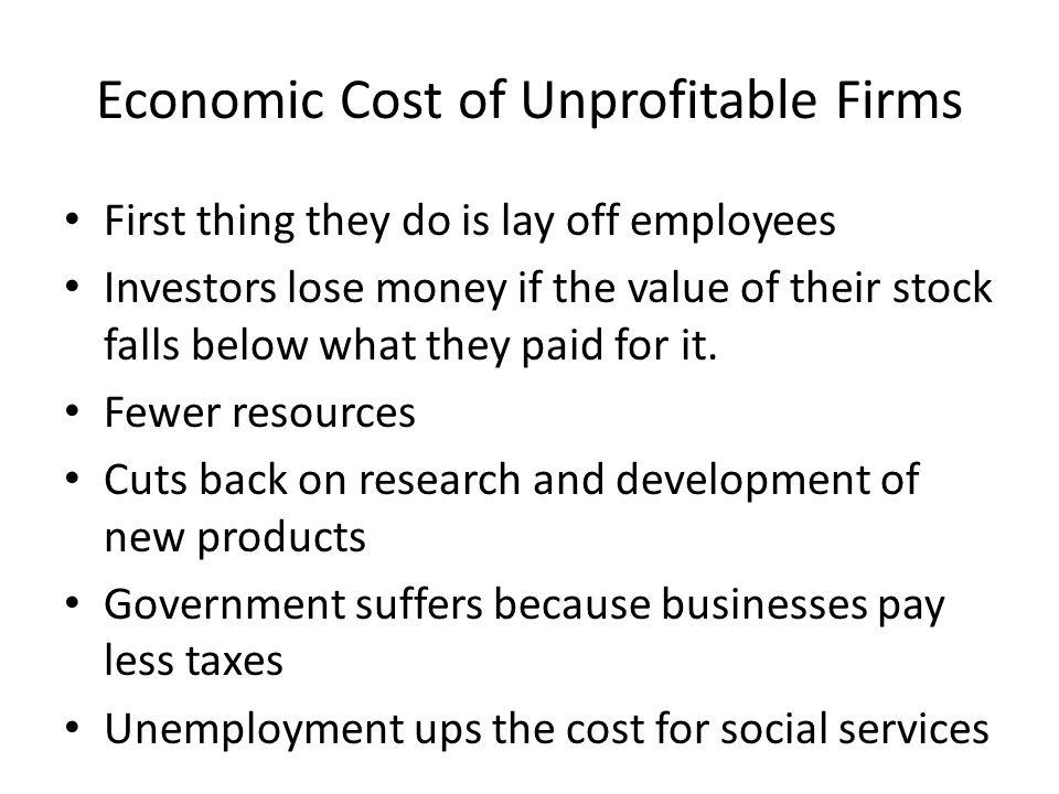Economic Cost of Unprofitable Firms
