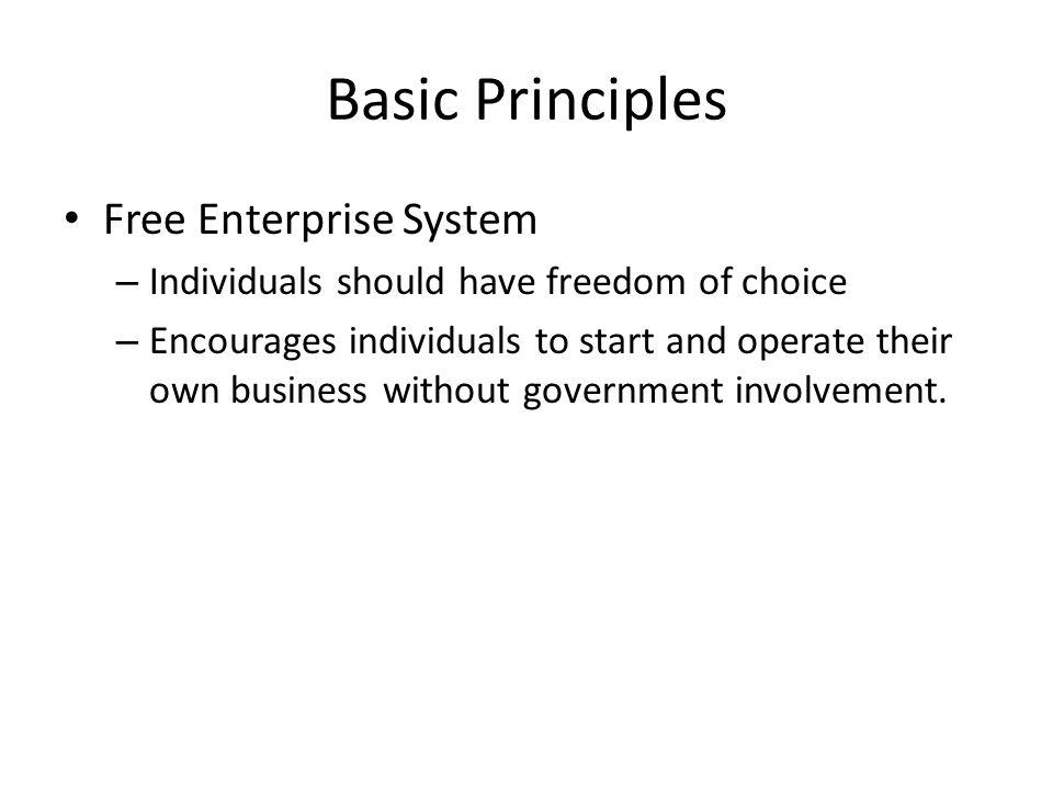Basic Principles Free Enterprise System