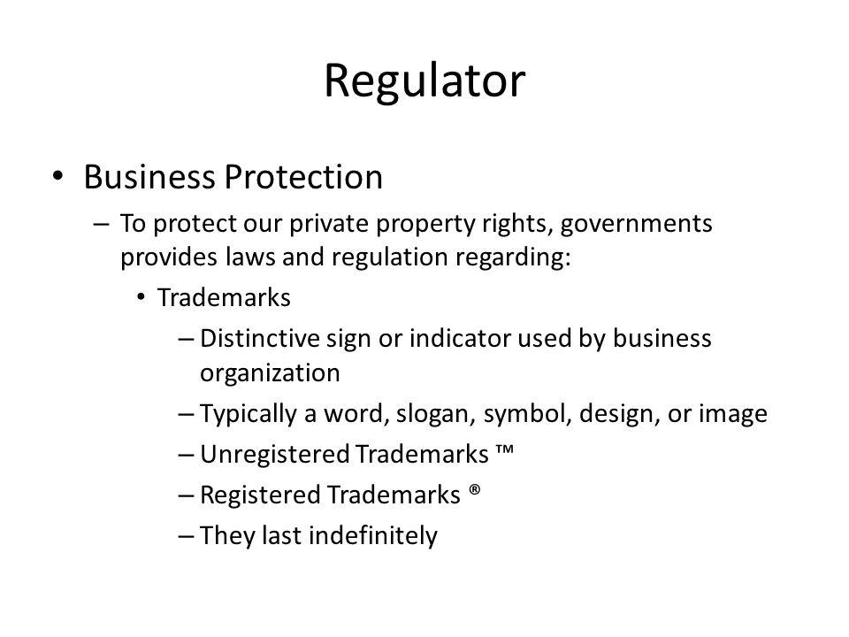 Regulator Business Protection