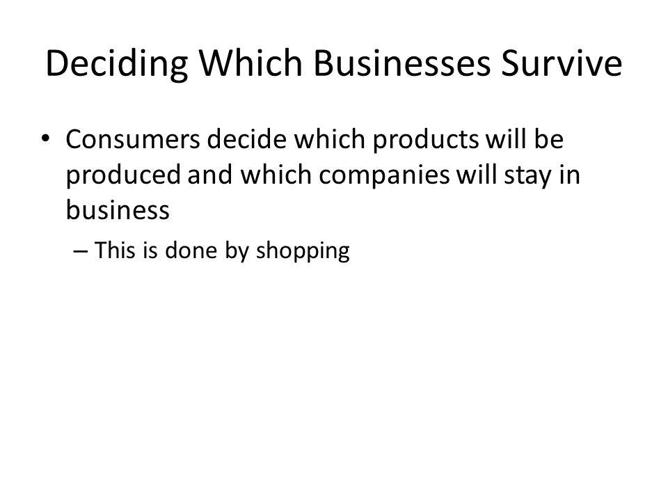 Deciding Which Businesses Survive