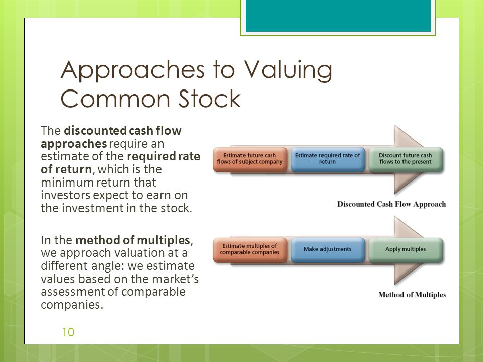 Approaches to Valuing Common Stock