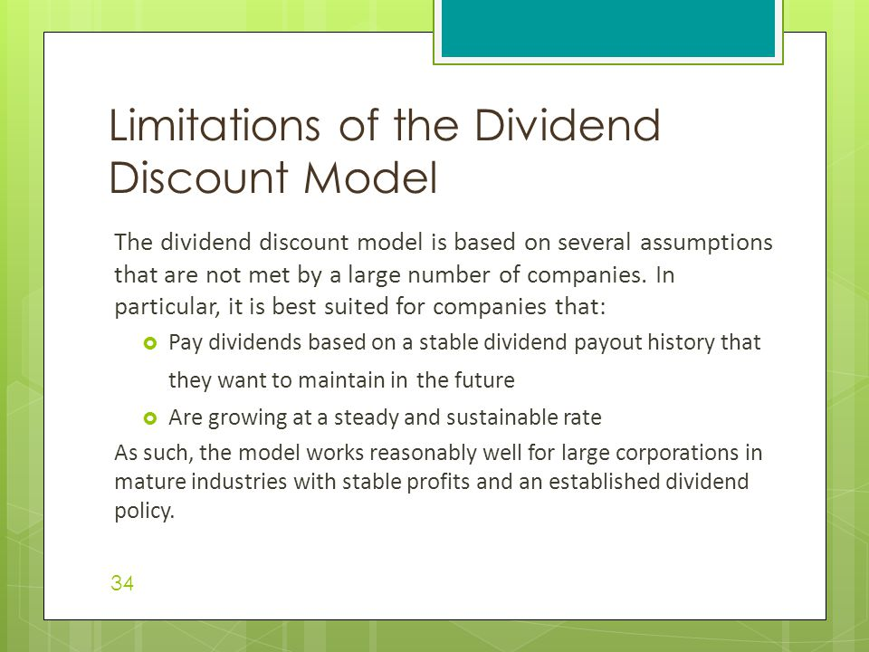 Limitations of the Dividend Discount Model