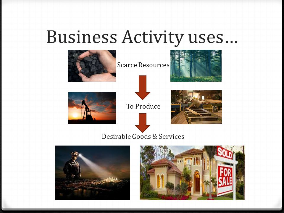 Business Activity uses…