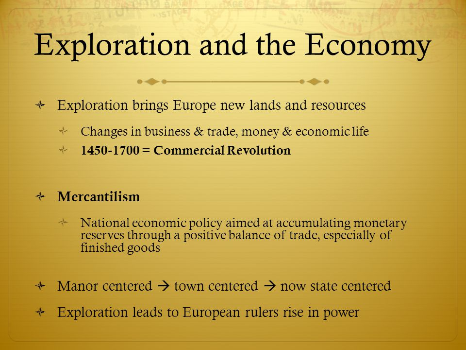 Exploration and the Economy