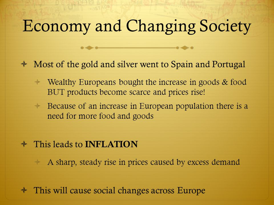 Economy and Changing Society
