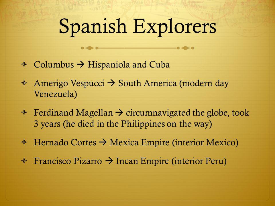 Spanish Explorers Columbus  Hispaniola and Cuba