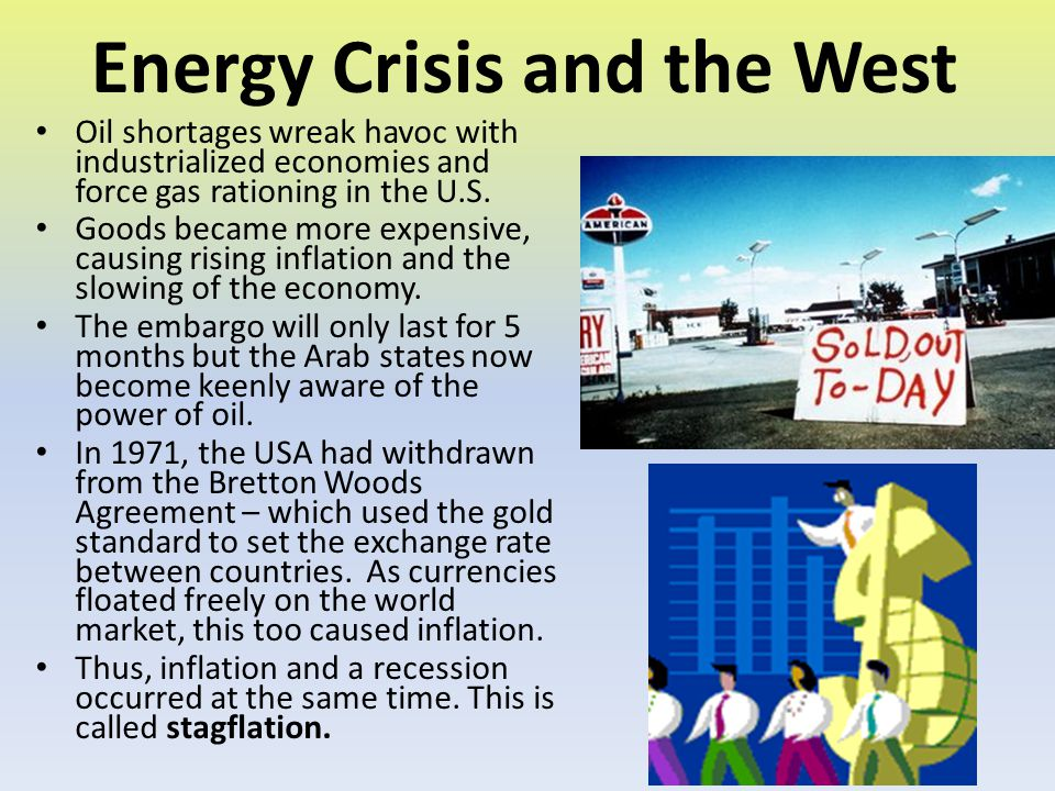 Energy Crisis and the West