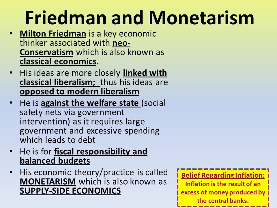 Friedman and Monetarism