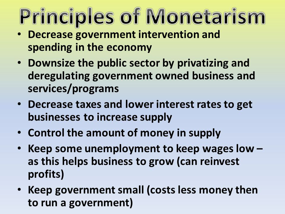 Principles of Monetarism