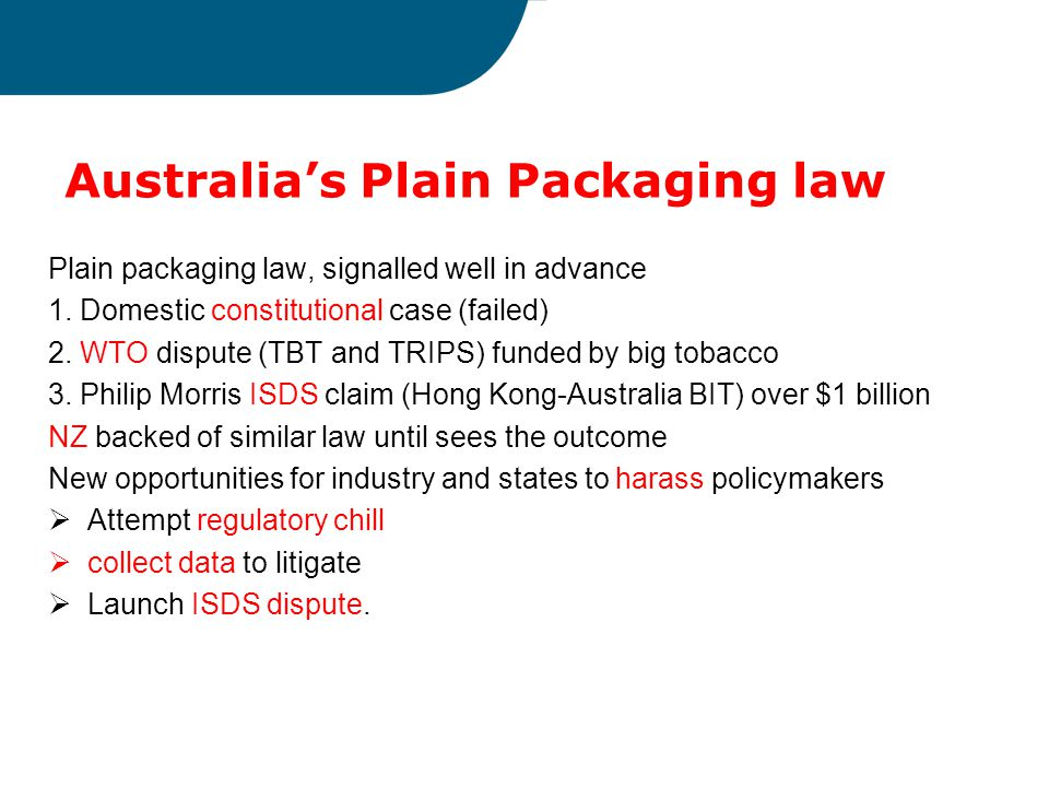 Australia's Plain Packaging law