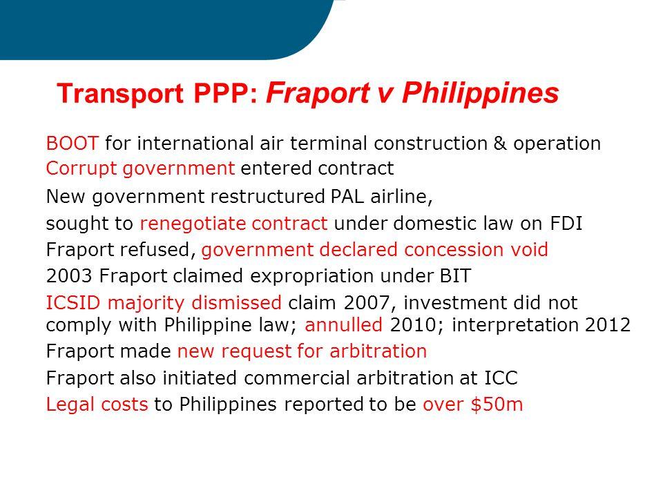 Transport PPP: Fraport v Philippines