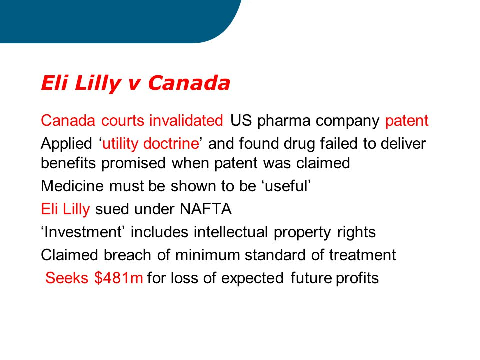 Eli Lilly v Canada