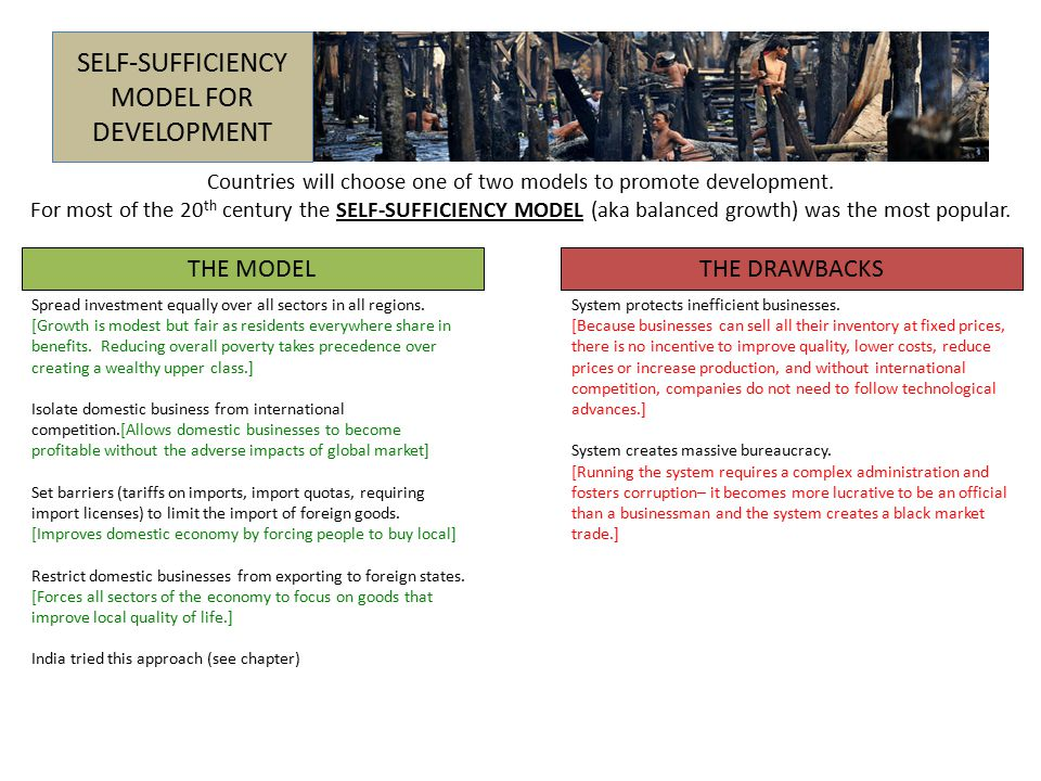 SELF-SUFFICIENCY MODEL FOR DEVELOPMENT