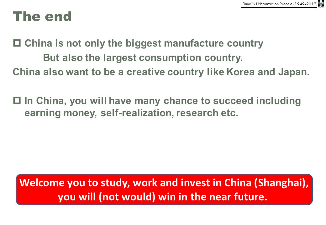 The end China is not only the biggest manufacture country. But also the largest consumption country.