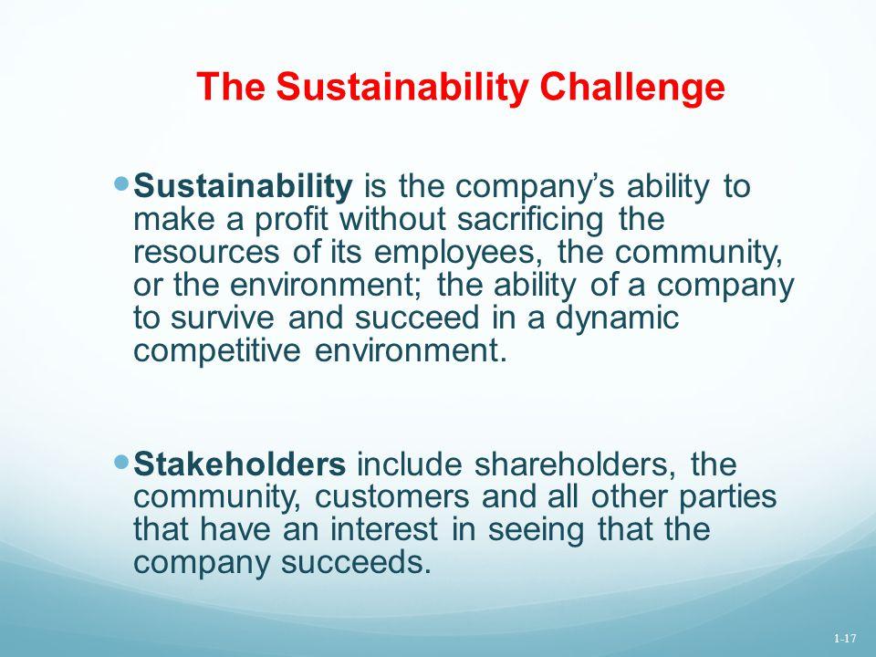 The Sustainability Challenge