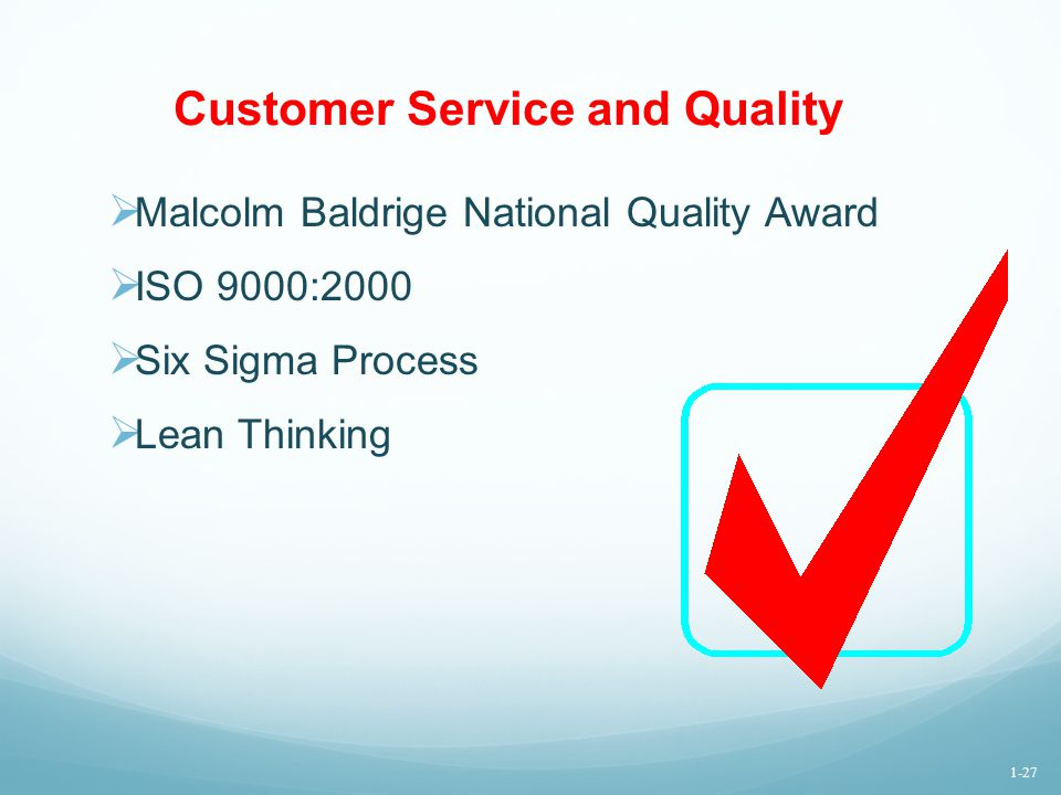 Customer Service and Quality