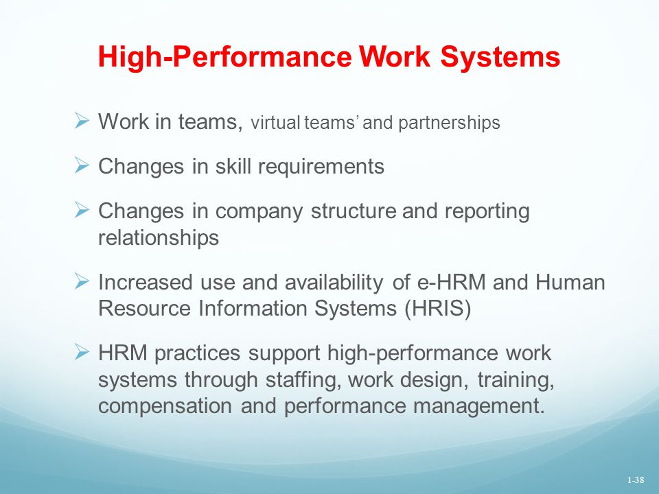 High-Performance Work Systems