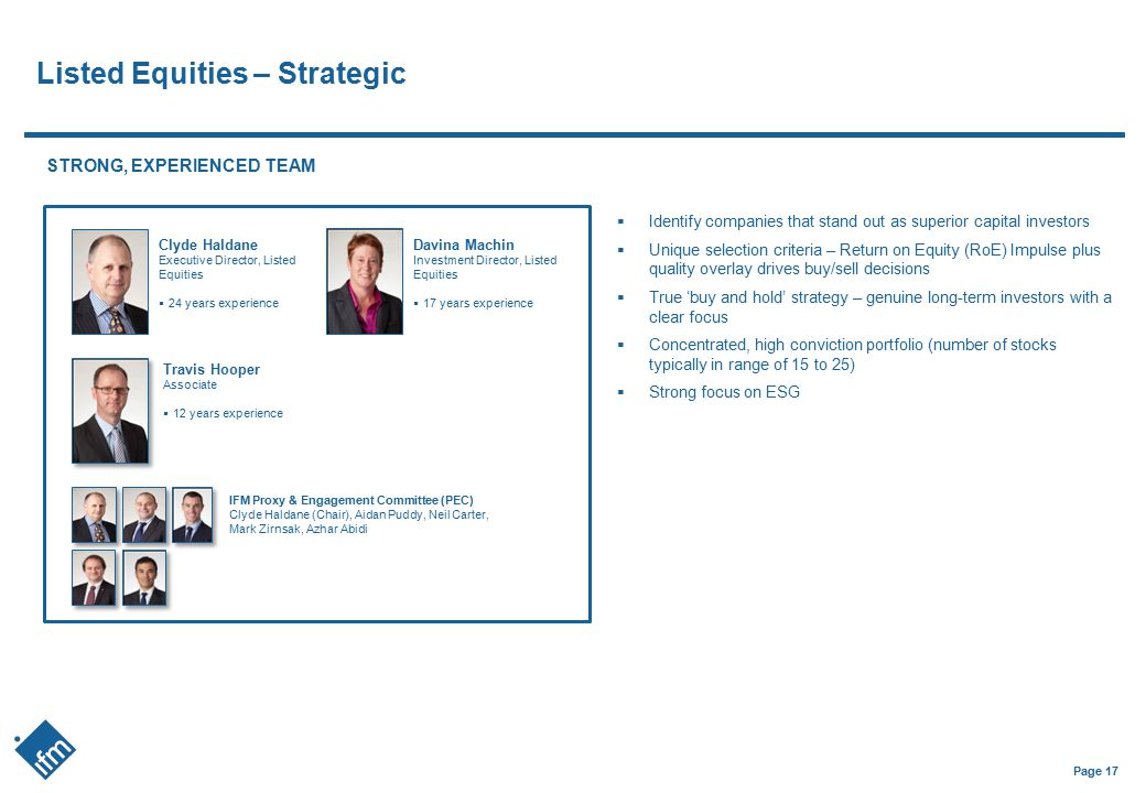 Listed Equities – Strategic