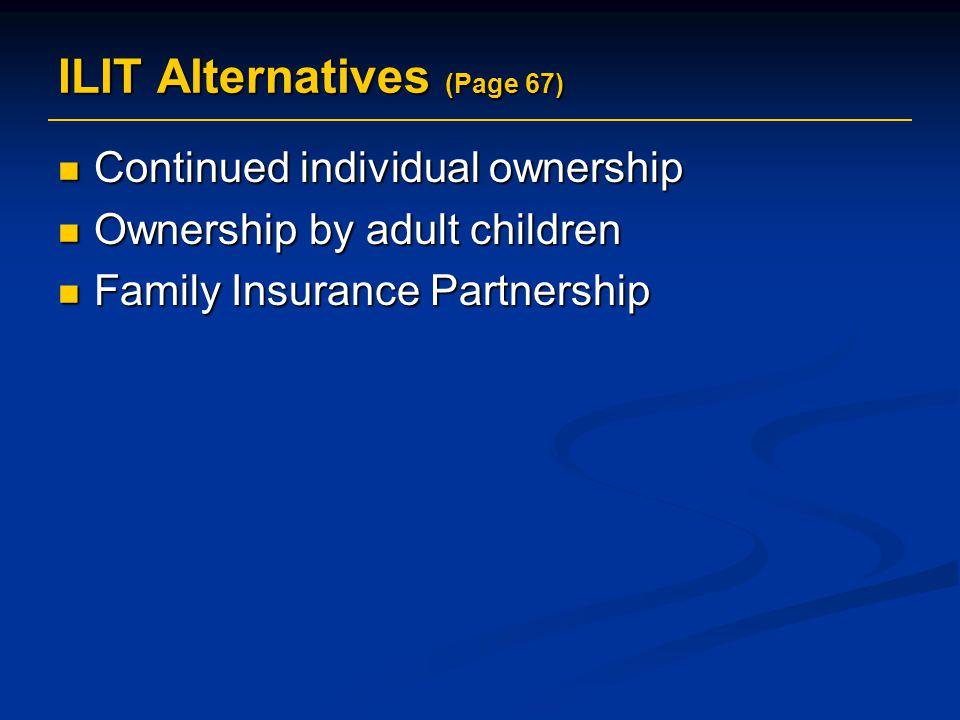 ILIT Alternatives (Page 67)