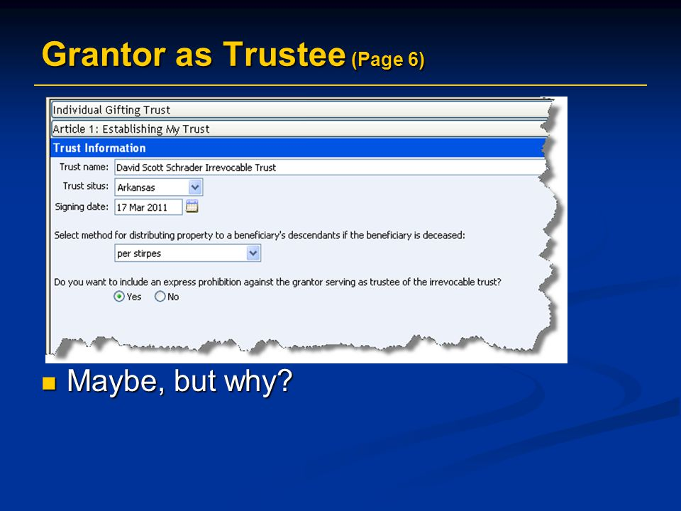 Grantor as Trustee (Page 6)