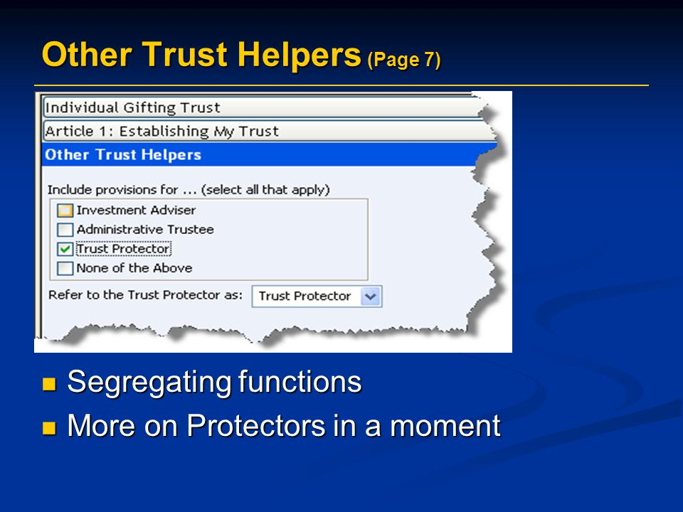 Other Trust Helpers (Page 7)