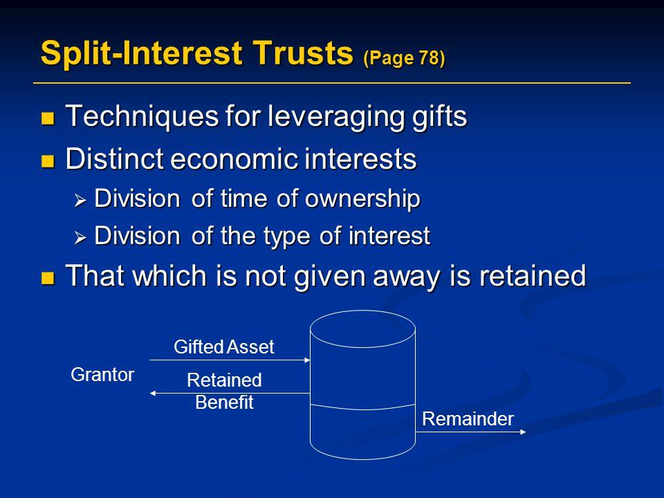 Split-Interest Trusts (Page 78)