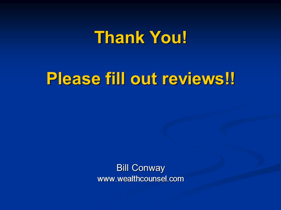 Thank You! Please fill out reviews!!